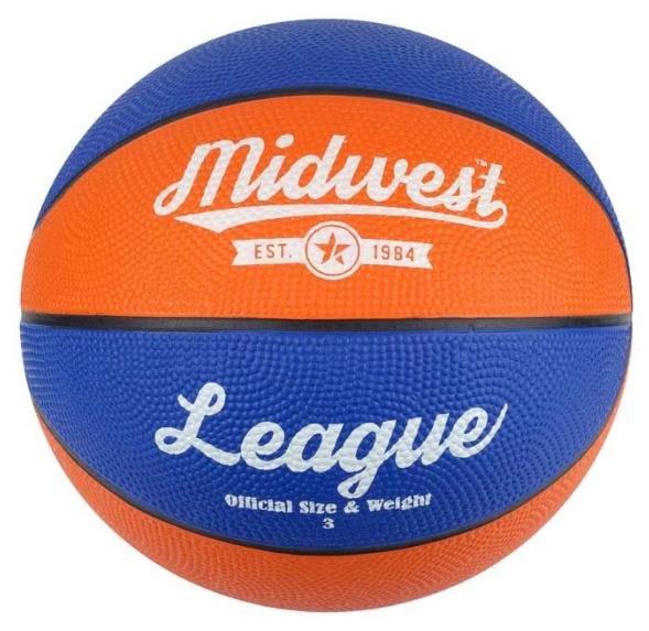 Midwest Kids League Basketball, Blue/Orange, Size 3 - £7.82 (prime) // £12.31 (non prime) @ Amazon