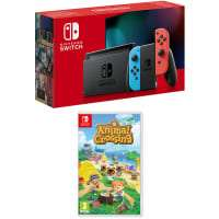 NINTENDO SWITCH - NEON (IMPROVED BATTERY) + ANIMAL CROSSING: NEW HORIZONS £329 + £4.99 Delivery @ GAME