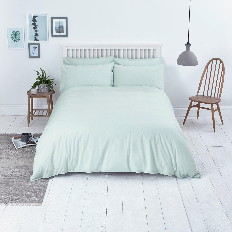 Sainsbury's Home Wash 100% Cotton Percale (200 TC) Duck Egg Bedding Set - SuperKing - £13.99 Delivered @ Argos / eBay