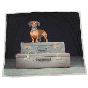 Dachshund Throw £5 @ Qwerkity (£3.99 P&P)