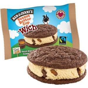 Ben & Jerry's Wich Peanut Butter Ice Cream Sandwich 80ml @ Heron - Hull - 39p Or 5 For £1