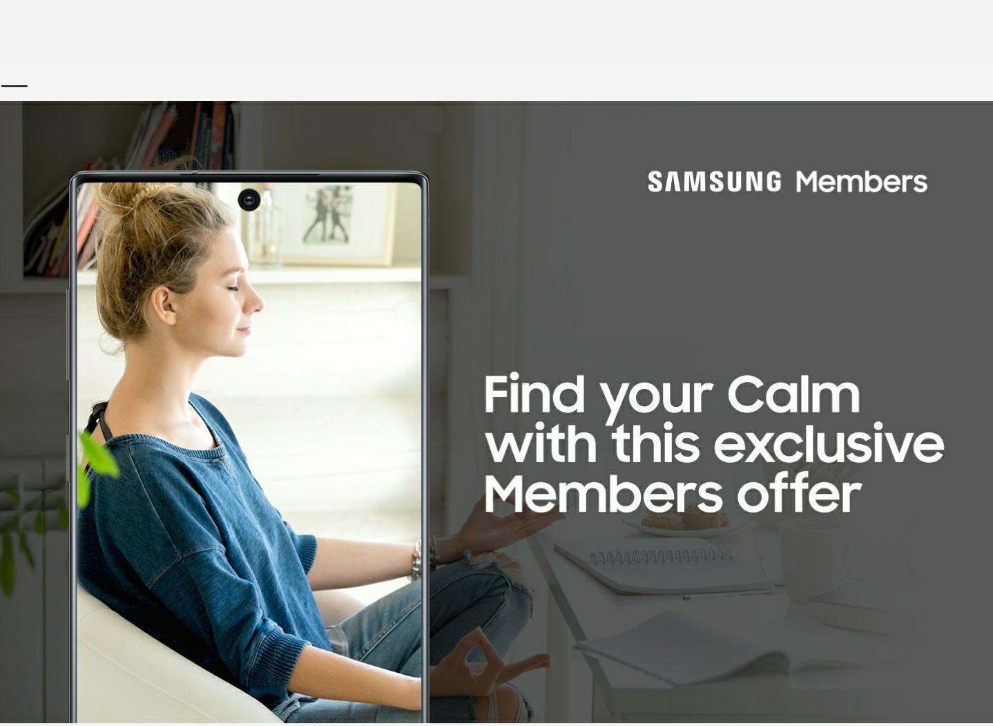 6 Months Free Calm Premium for Samsung Members via Samsung Health