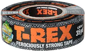 T Rex Ferociously Strong Waterproof Graphite Grey Adhesive Tape - £6.49 Prime (+£4.49 non-Prime) @ Amazon