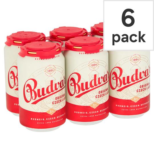 Budweiser Budvar Original cans x 12 for £9 @ Tesco (Min basket £40 + up to £4 delivery)