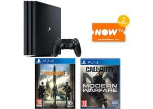 PS4 Pro 1TB + Call of Duty: Modern Warfare + The Division 2 + NOW TV 2 months £364.98 Delivered @ GAME