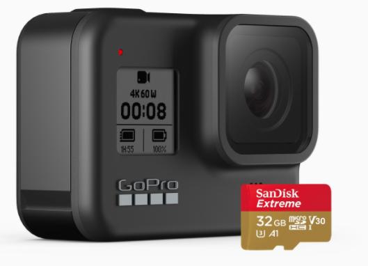 GOPRO HERO8 Black 4K Ultra HD Action Camera + SandDisk Extreme 32GB SD - £279.99 Delivered @ GoPro