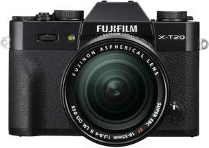 Fujifilm X-T20 Mirrorless 24.3MP 4K Camera + 18-55mm Lens, Wi-Fi, OLED EVF, Tilted Touch Screen, Black - £499 Delivered @ Park Cameras