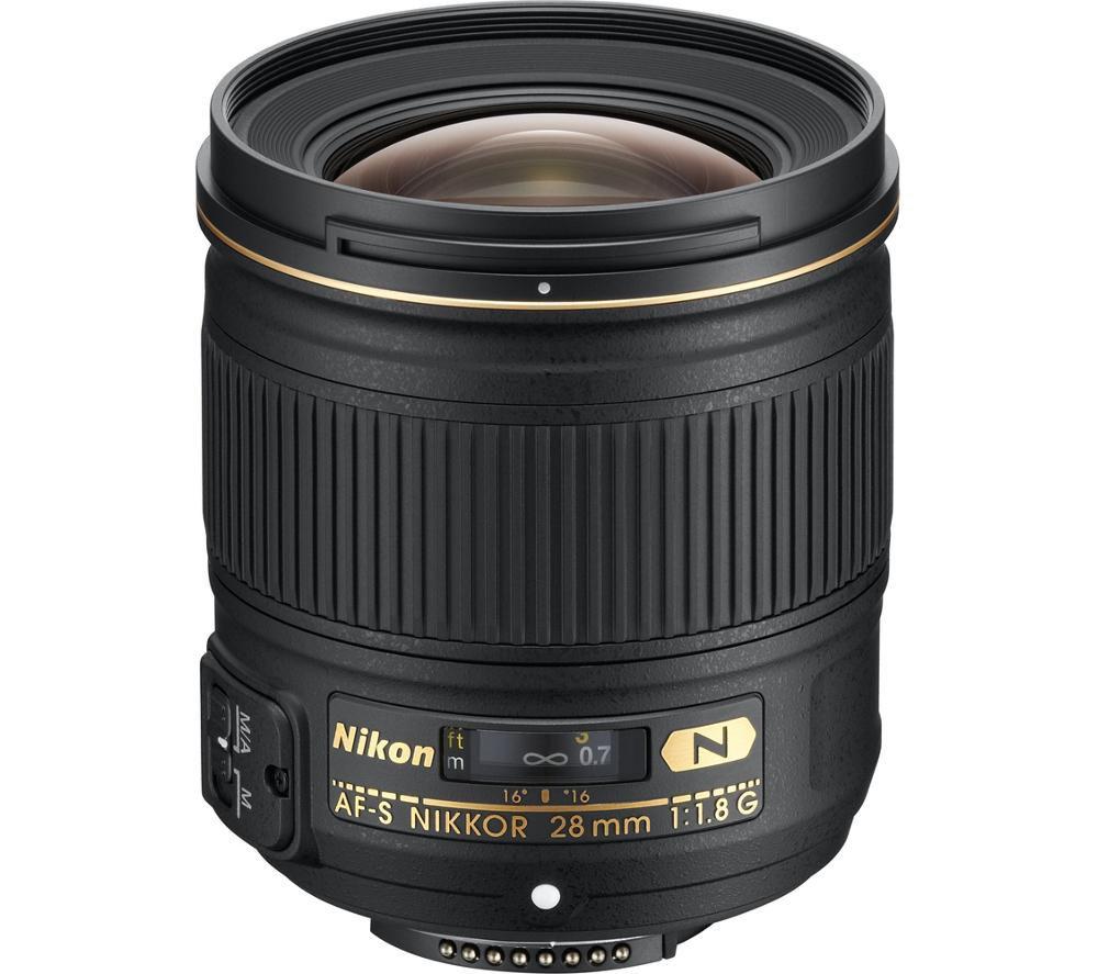 NIKON AF-S NIKKOR 28mm f/1.8G Wide-angle Prime Lens - £309.97 Delivered @ Currys