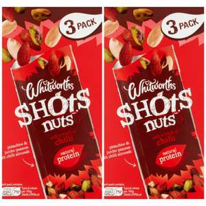 Whitworths Chilli Shots Nuts 25g 2 Pack (3×2) at B&M Hull