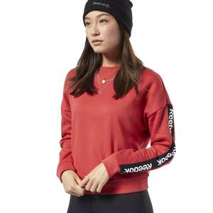 Reebok Sport Linear Logo Crew Sweatshirt in Red, Black, White or Navy now £14.80 delivered with code @ Reebok