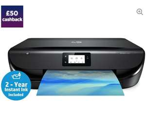 HP Envy 5050 All-in-One Wireless Inkjet Printer and 2 years free instant ink! - £99 @ Currys PC World (Possible £50 Cashback)