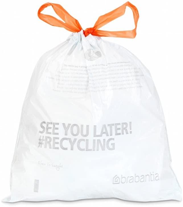 Brabantia Bin Liners, Size B, 5 L - 20 Bags - Minimum order 2 - £2.20 (Prime) / £6.69 (non Prime) at Amazon