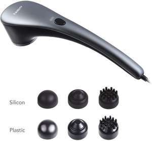 Naipo Handheld Percussion Massager with Heat and Deep Tissue & 6 Interchangeable Nodes £17.99 delivered Bestvape/Amazon