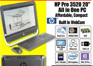 "Refurbished - Grade A2 - HP Pro 3520 20"" All in One PC - £176.94 delivered by Morgan Computers"