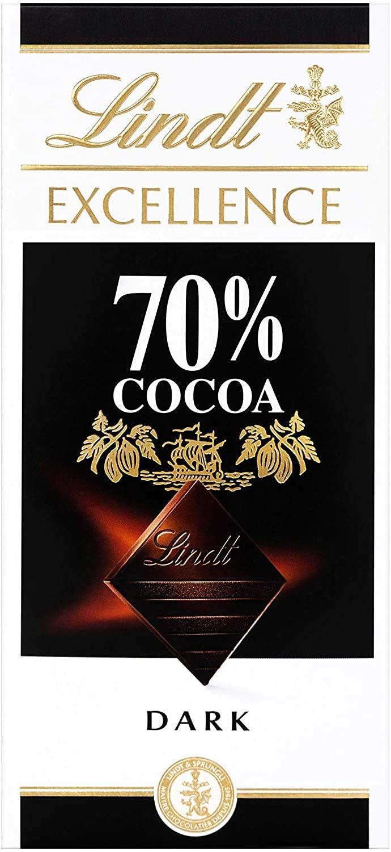 Lindt Excellence Dark 70% Cocoa Chocolate Bar Each 100g £1.25 @ Amazon (+£4.49 non-prime)