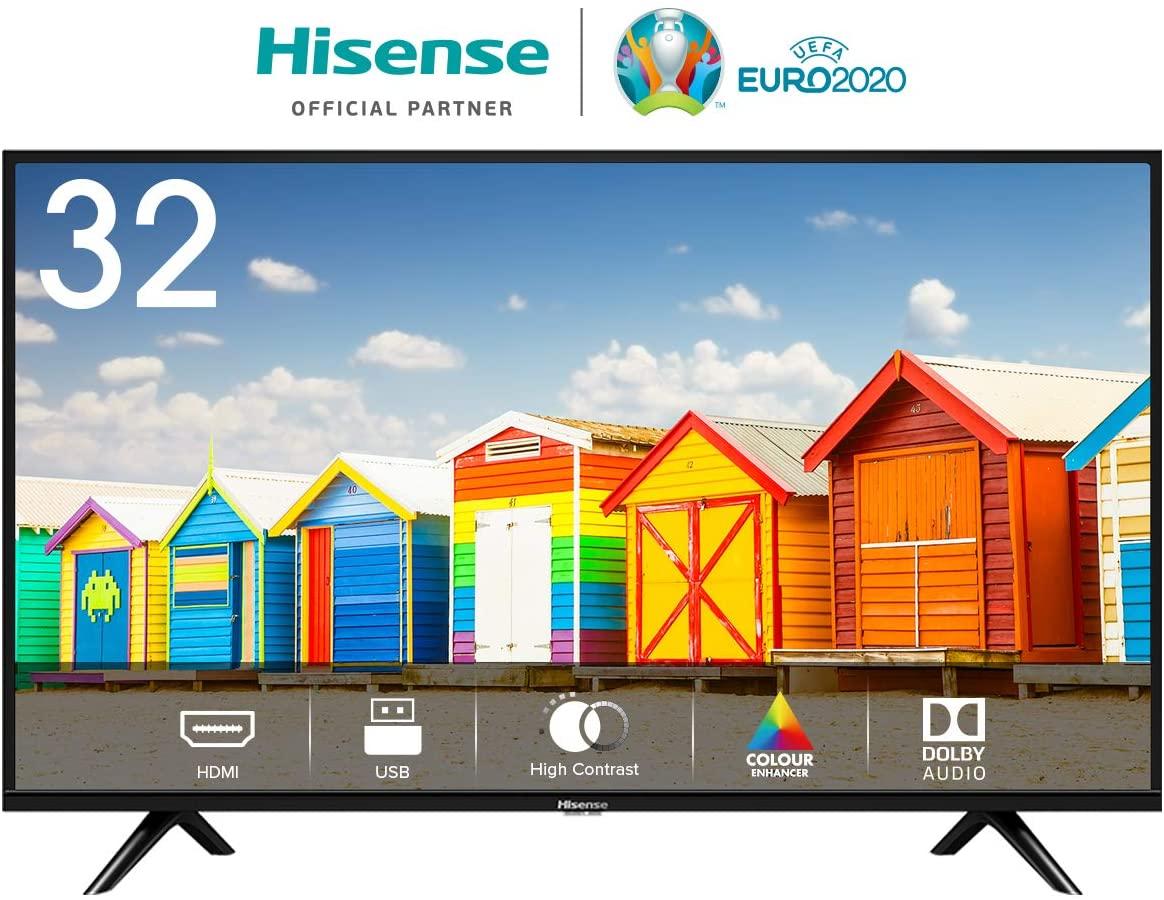32 Inch Hisense HD TV with 3 year warranty £125.79 - Amazon Spain