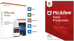 Microsoft Office 365 Home + Mcafee Total Protection - 12 months - 6 Devices £57.99 @ Amazon