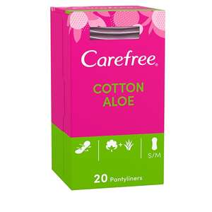 Carefree Aloe Breathable Pantyliners, 20 Pack, 2 Packs For £1.80 @ Superdrug (£3 P&P)