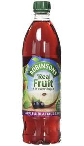 Robinsons Apple and Blackcurrant No Added Sugar Fruit Drink Bottle 1 Litre £1 @ Amazon (+£4.49 non-prime)