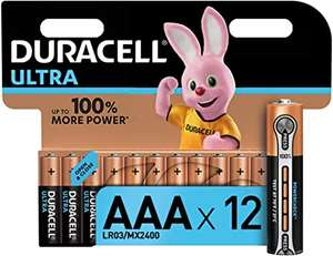 Pack of 12, Duracell Ultra AAA Alkaline Batteries, 1.5 V £7.71 @ Amazon (+£4.49 Non-prime)