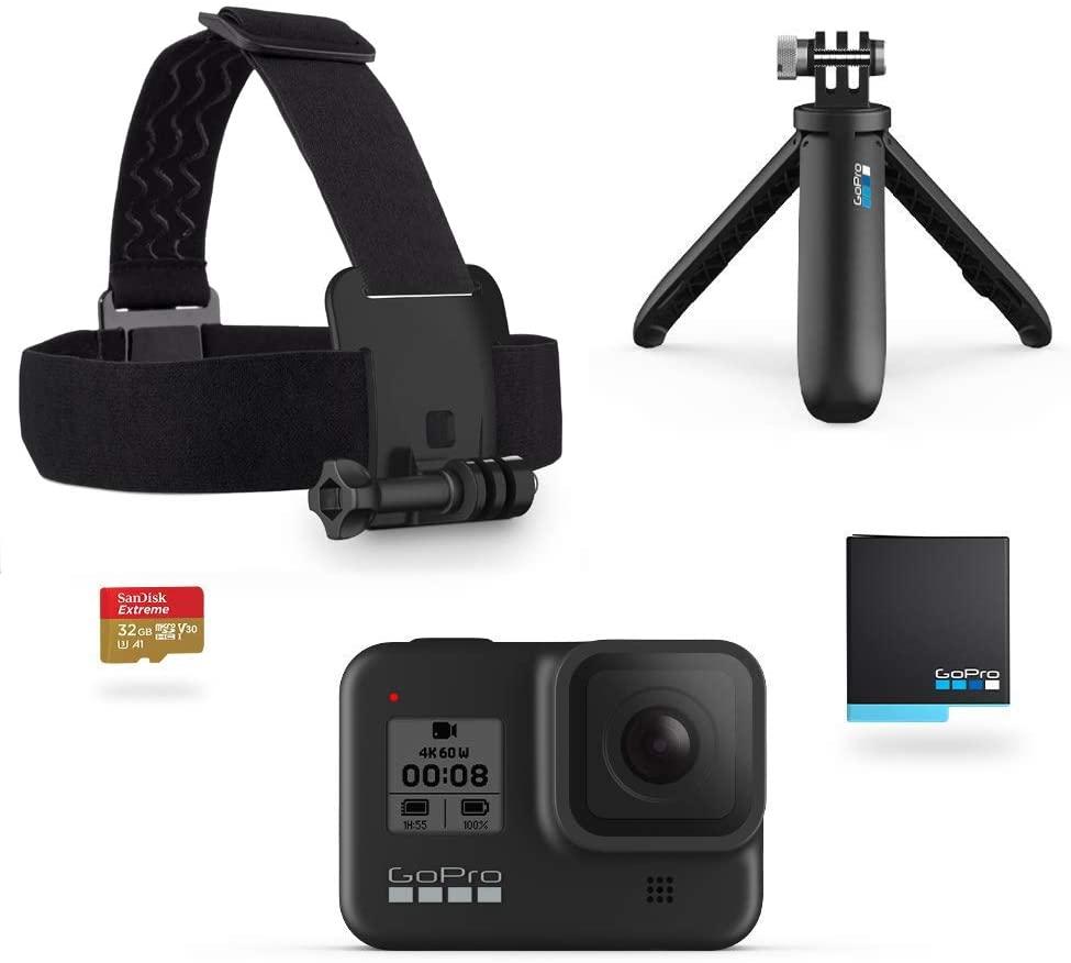 GoPro HERO8 Black Bundle - Including Shorty, Headstrap, Spare Battery & 32GB Micro SD £329 @ Amazon