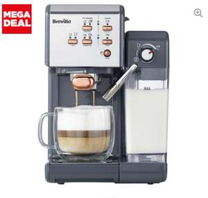BREVILLE One-Touch VCF109 Coffee Machine - Graphite Grey & Rose Gold £149 at Currys PC World