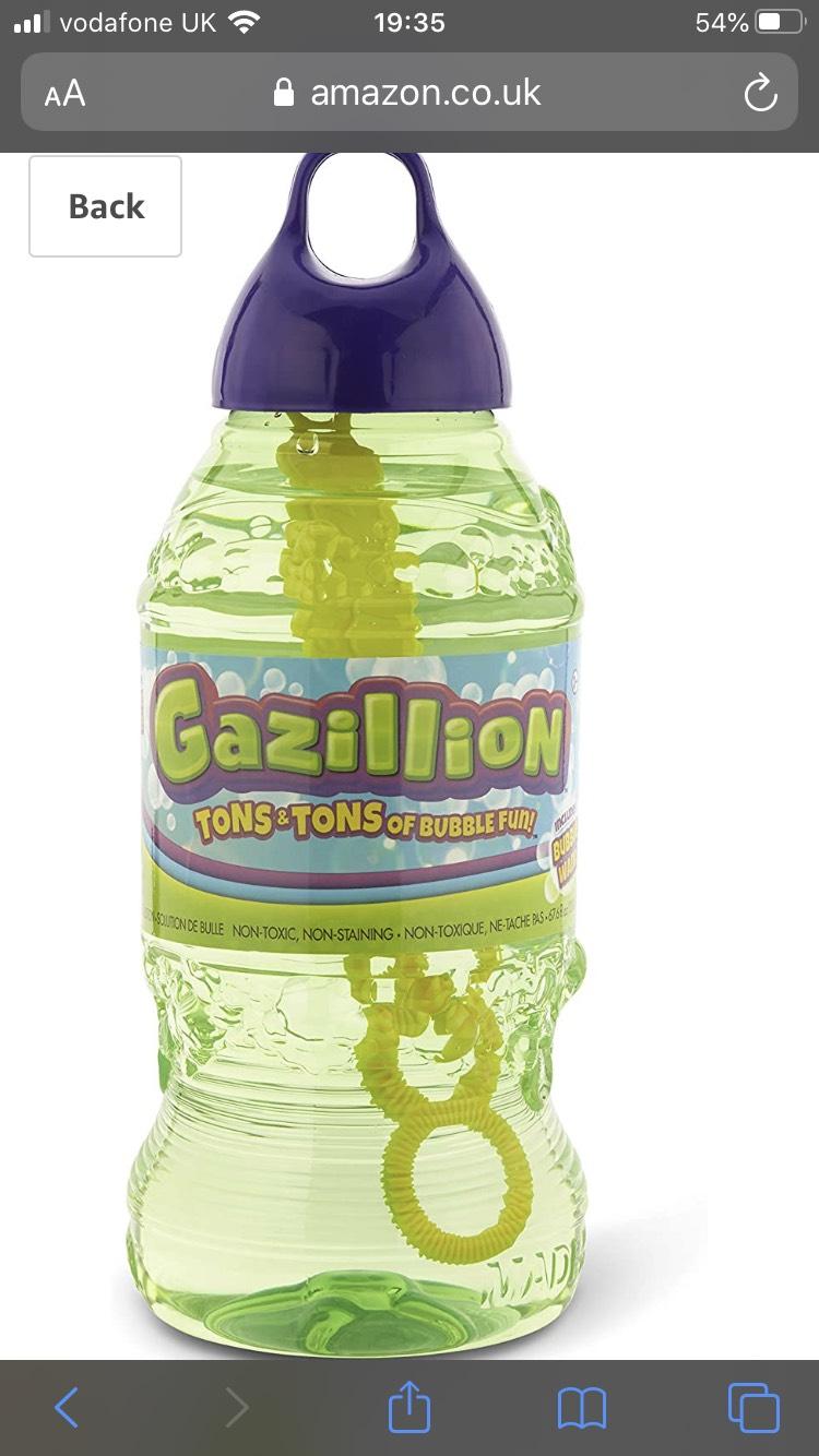 Gazillion bubbles 2L bottle - £5.99 Prime / +£4.49 non Prime @ Amazon