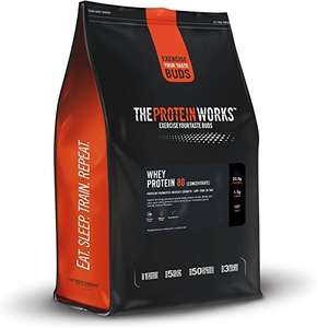 Protein works Whey protein - Whey 80 Concentrate Protein Shake, Unflavoured, 2 kg - £17.49 @ Amazon