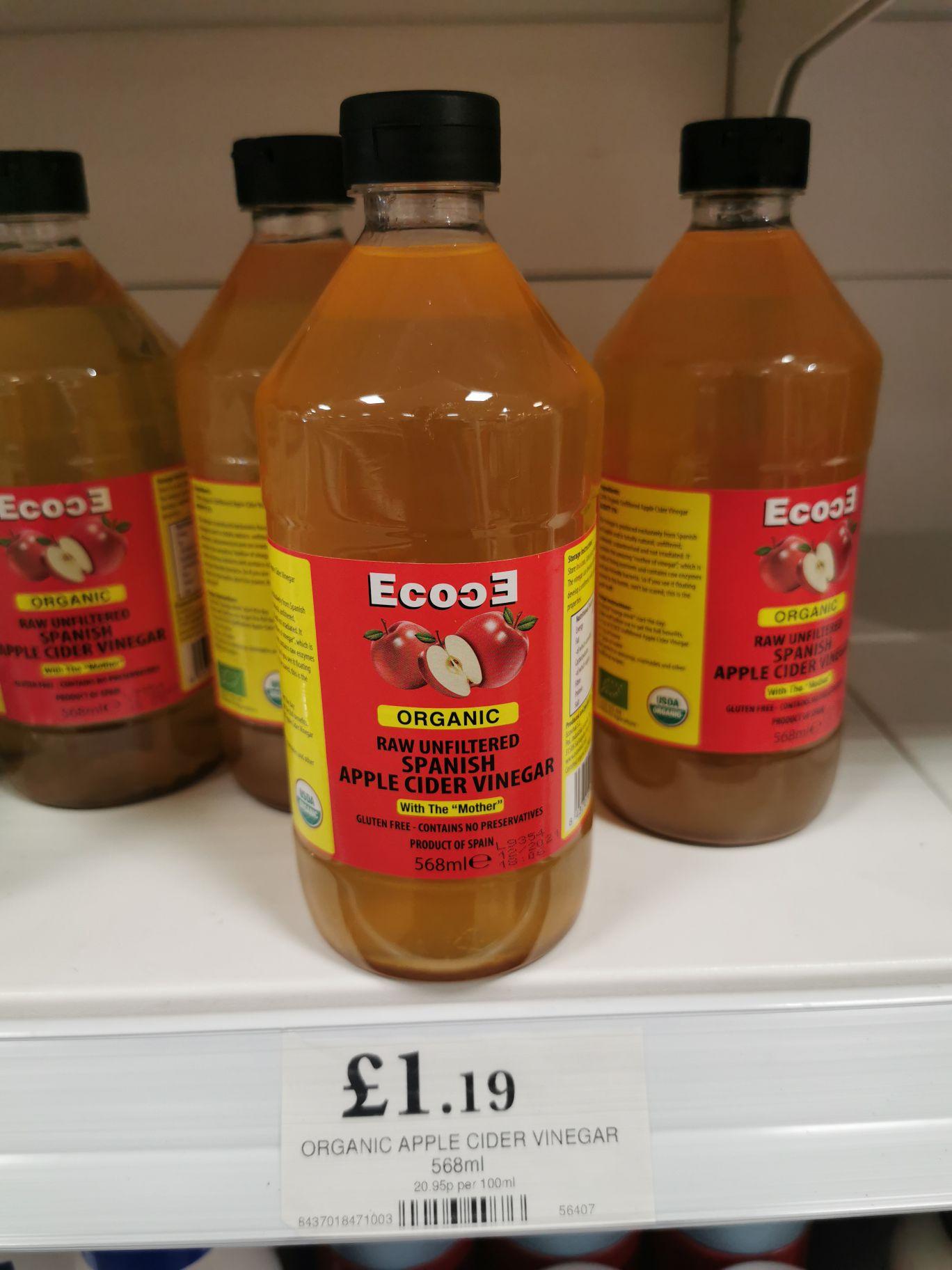 Organic Apple Cider Vinegar 568ml - £1.19 instore at Home Bargains (National)
