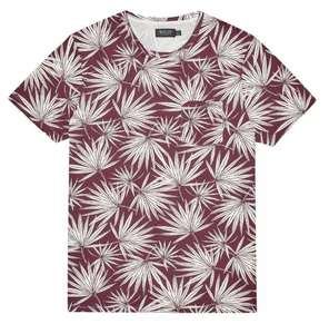 Up to 50% off sale at Burton e.g. Burgundy And White All Over Palm Print T-Shirt £10