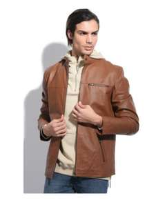 Jacqs leather jacket in light brown colour £71.95 delivered @ Spartoo
