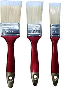 3 Pieces Paint Brush Set Quality Wooden Handles, £2.97 sold by Britwear on Amazon