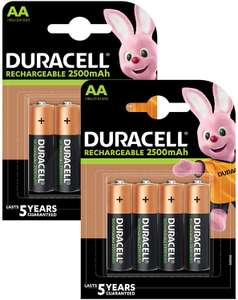 Duracell Recharge Ultra Type AA Batteries 2500 mAh, Pack of 8 [Amazon Exclusive - Packaging May Vary] £9 (Prime) £13.49 (Non-Prime) @ Amazon