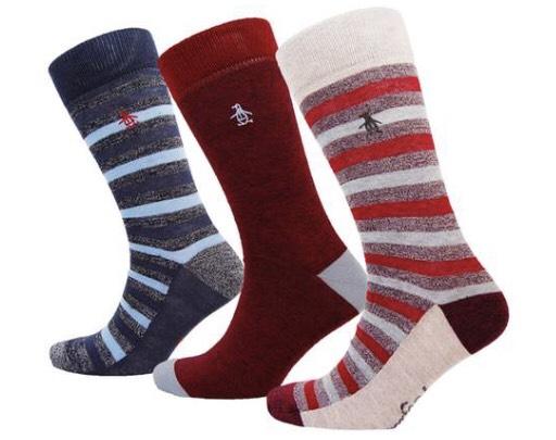 Three Pack of Penguin Men's Socks £6.91 Groupon