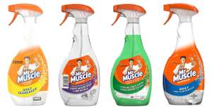 Half price Mr Muscle Cleaners (Daily Degreaser Kitchen/ Shower Spray/Soap Scum Remover Bathroom/ Window & Glass Spray 750ml - £1 @ Morrisons