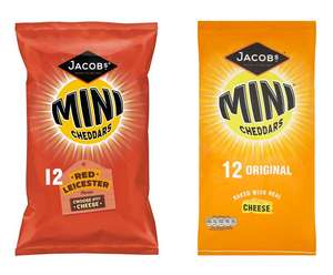 Jacobs Mini Cheddars Red Leicester / Original - 12 pack for £1.50 @ Tesco