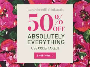 50% off everything at Yumi