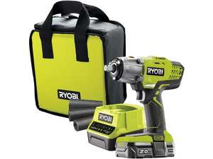 Ryobi 18V ONE+ Impact Wrench Starter Kit (1x2.0Ah) - £127.99 @ Halfords - free Home Delivery