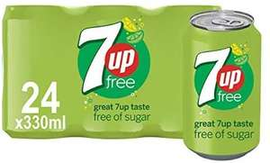 7UP Free 24 cans (pre-order for when in stock) £6 (Prime) / £10.49 Non-Prime @ Amazon