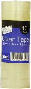 Just Stationery Mini Clear Tape (Roll of 10), £1.75 (Prime) at Amazon (+ £4.49 non prime)