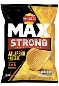 Walkers Max Strong Jalapeno And Cheese Crisps 150g pack of 9 £1.00 @ Amazon (+£4.49 non-prime)