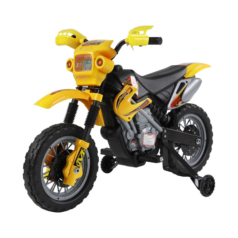 Kids Electric Motorbike Children 6V Battery Power Scooter Ride On Motorcycle - Yellow - £59.99 @ eBay / 2011homcom