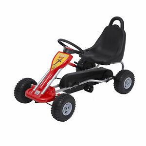 Deluxe Kids Ride Pedal Racing Car Go Kart Adjustable Seats with Hand Brake Red - £40.99 @ eBay / 2011homcom