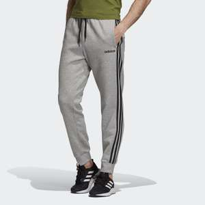 Adidas Essentials 3 stripe tapered cuff joggers for £19.93 delivered