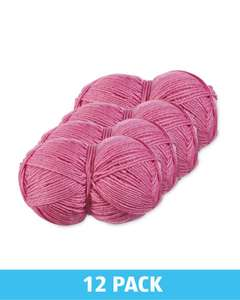 12 pack knitting yarn pink £11.97 + £2.99 delivery @ Aldi