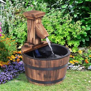 Wood Barrel Pump Patio Water Fountain Water Feature Electric Garden - £38.99 @ eBay / 2011homcom