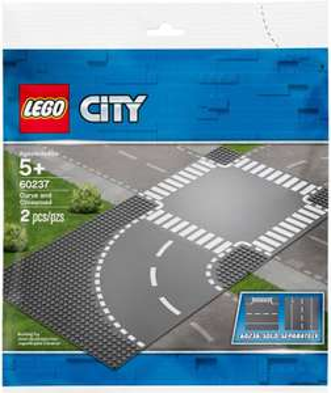 LEGO City 60237 Curve & Crossroad Baseplates pack £7 Prime / +£4.49 non Prime @ Amazon