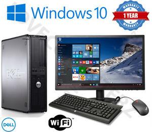 Refurbished Dell/Hp Dual Core Desktop tower pc & Tft Computer System, windows 10, 8gb, 250gb £64.95 @ supreme-pc ebay