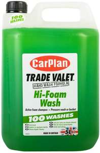 CarPlan CFW005 Trade Valet Hi-Foam Wash - 10 litres for £22.78 @ Sold by MotorWorld and Fulfilled by Amazon.