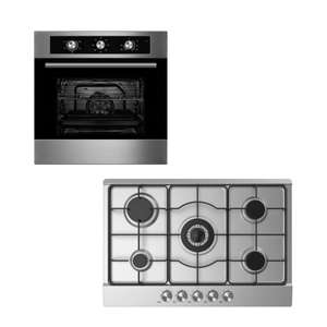 Cookology 75cm GH750SS Gas Hob - Includes LPG Jets £116.99 / With 60cm Electric Fan Oven £265.50 Using Code @ eBay / thewrightbuyltd